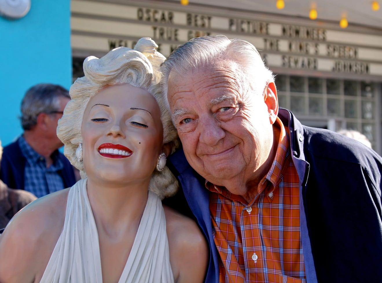 Seward Johnson with his work 'Forever Marilyn.' ©1996 The Seward Johnson Atelier, Inc